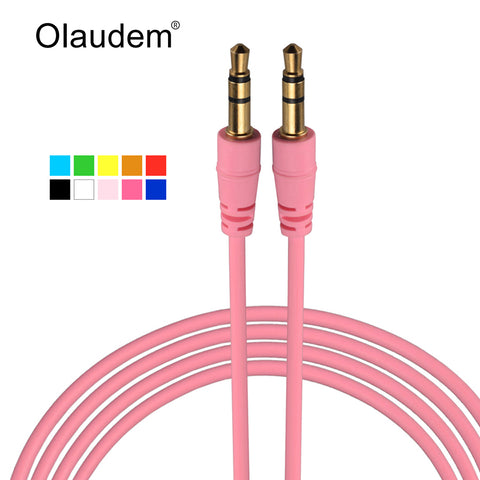 Aux Cable 3.5 mm Jack Male to Male Stereo Audio Cables For iPhone iPod iPad Mp3 Mp4 Headphone Car Stereo Extension Cord AXC258