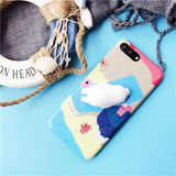 From Jenny Funny Toys Cat Phone Cases For iphone 6 6s 6plus 6splus 7 7plus lovely cute cellphone cover 2 colors