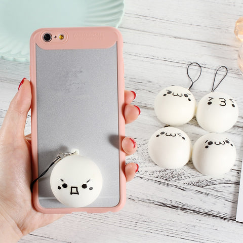 Cute Squishy Soft Toy Lanyard Emoji Foam Fragrance Mobile Phone Pendant Pinch Toys Smartphone Hanging Chain Hanger Hand Squeeze