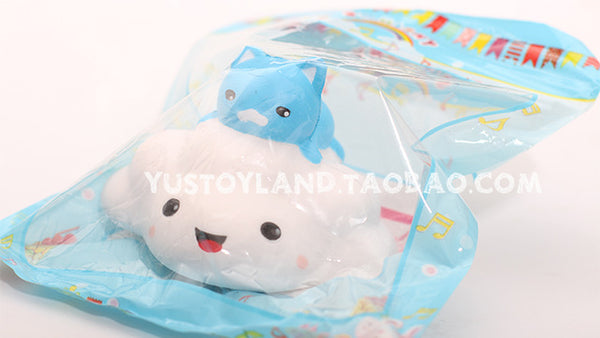 12CM Jumbo Kawaii Animal Pussy Cat Clouds Squishy Slow Rising Kid Toys Squeeze Soft Bread Cake Relieve Cartoon Wholesales 1PCS