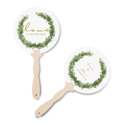 Love Wreath Personalised Hand Fan
