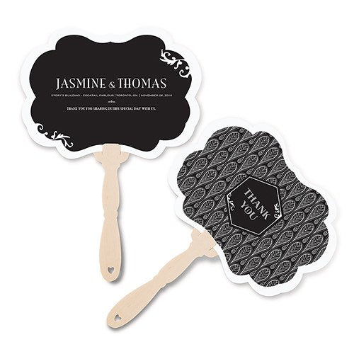 Black And Gold Opulence Personalised Hand Fan