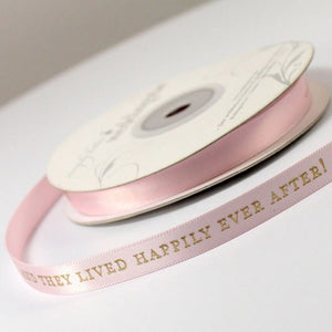 And They Lived Happily Ever After Personalised Ribbon