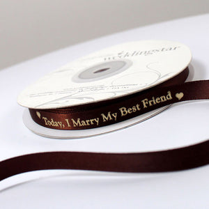 Today I Marry My Best Friend Personalised Ribbon