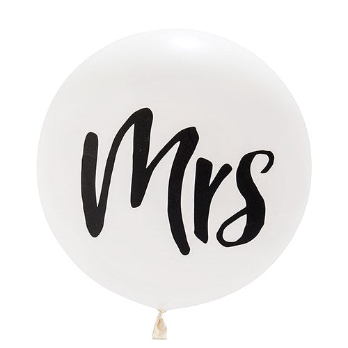 Jumbo White Round Wedding Balloon -