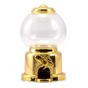 Mini Gumball Machine Party Favour - Gold (2 pk)