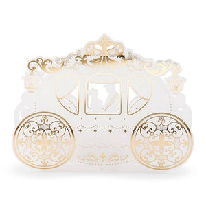 Cinderella Wedding Carriage Favour Box (10 pk)