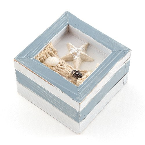 Beach Theme Wooden Trinket Boxes (12 pk)