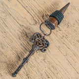Vintage Key Ornamental Wine Bottle Stopper (4 pk)