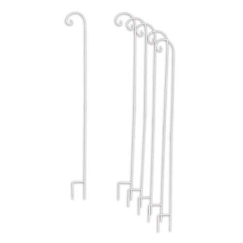 Decorating Metal Shepherd Hooks - White (6 pk)