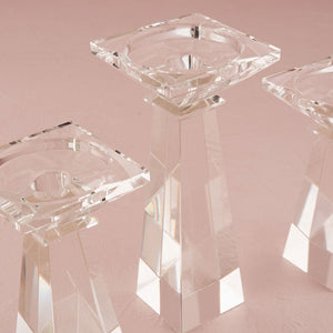 Dual Purpose Crystal Candle Holder - Tall