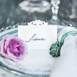 Pearls And Lace Laser Embossed Place Cards (20 pk)