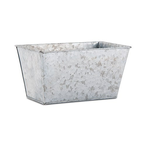 Galvanised Tin Rectangular Planter