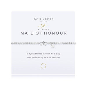 'Maid Of Honour' Silver Bracelet With Bow