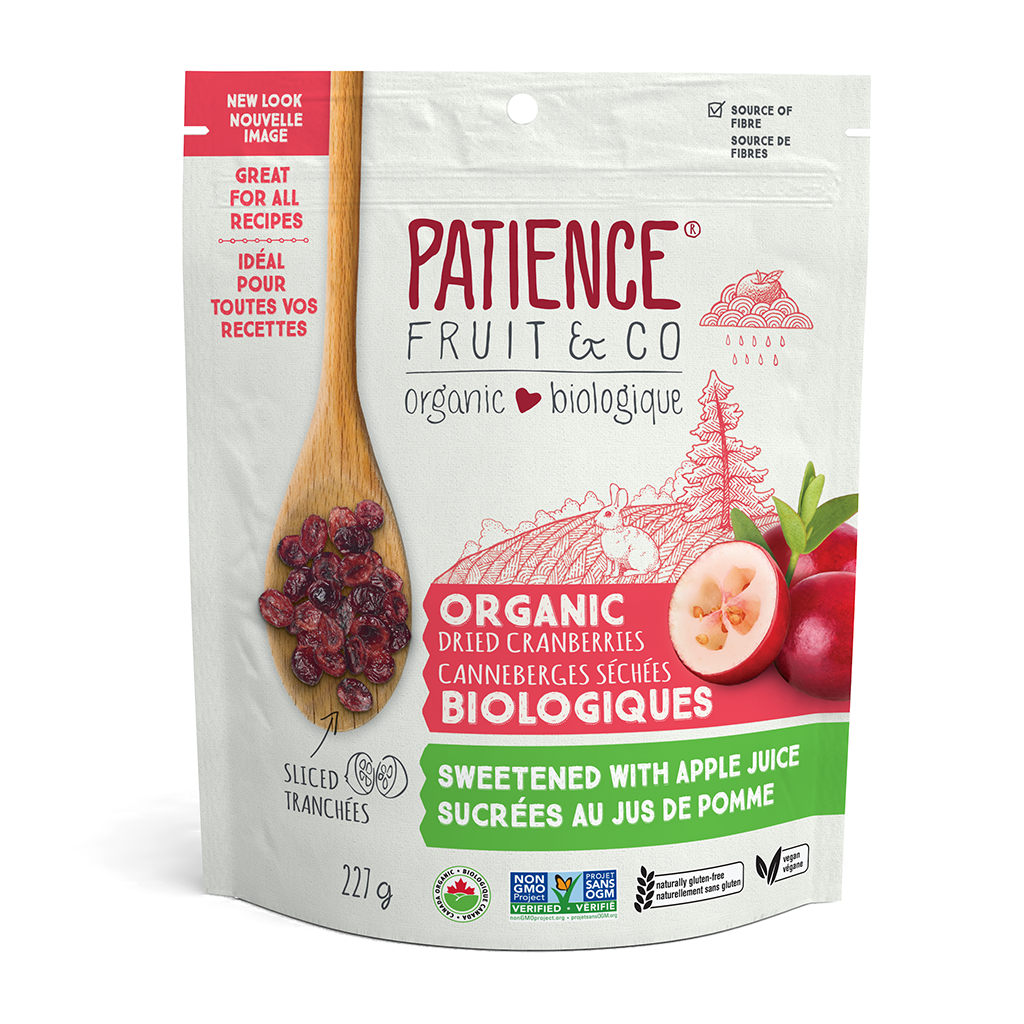 Dried Cranberry Halves with Apple Juice 227g Patience Fruit & Co