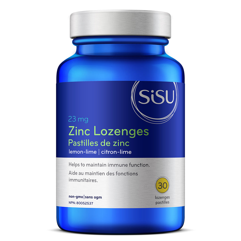 zinc lozenges lemon lime sisu 30 pastilles