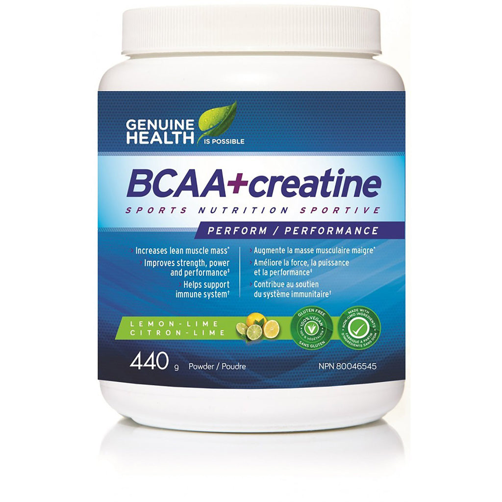 bcaa creatine fermentee genuine health 440 g