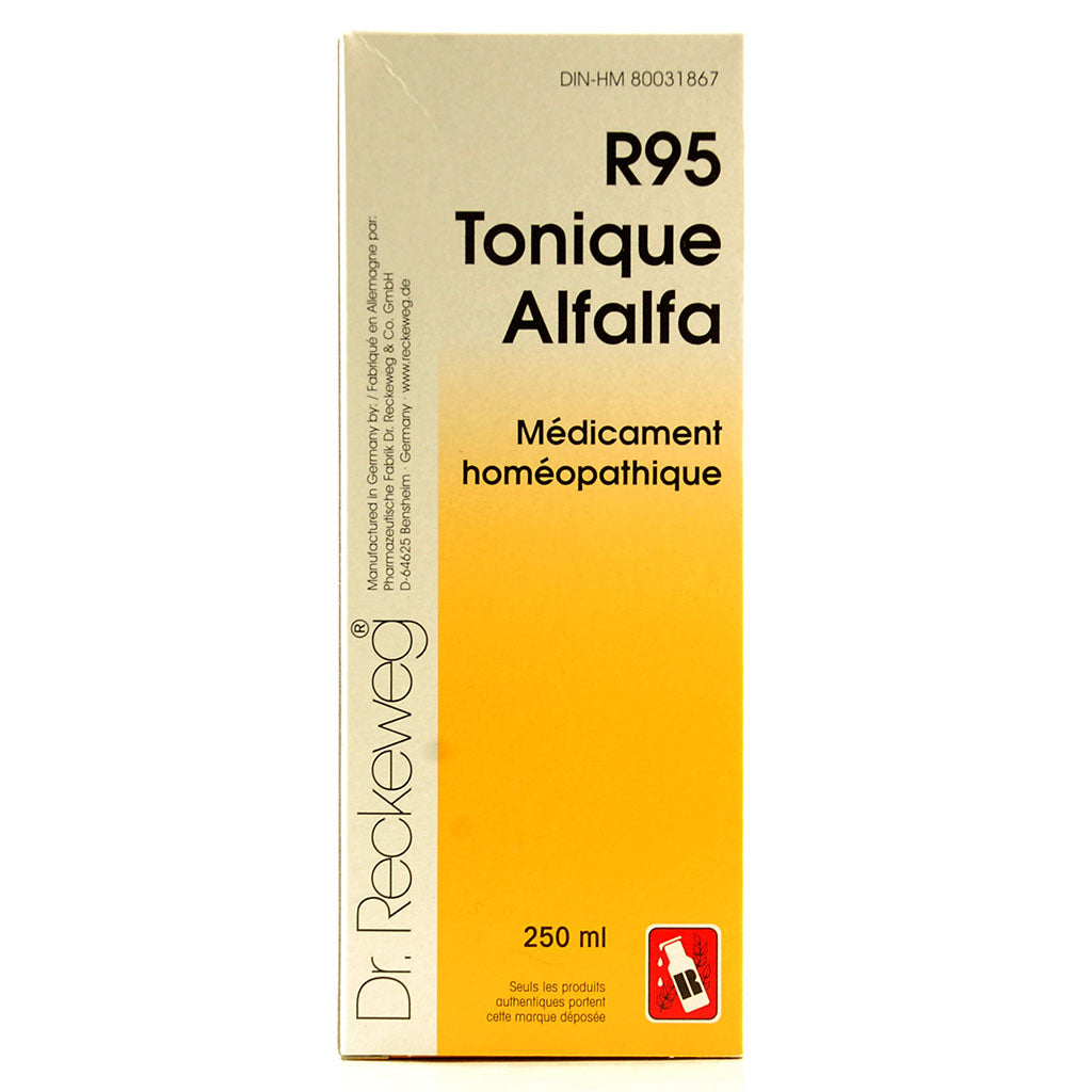R95 Tonique Alfalfa 250 mL de Dr. Reckeweg