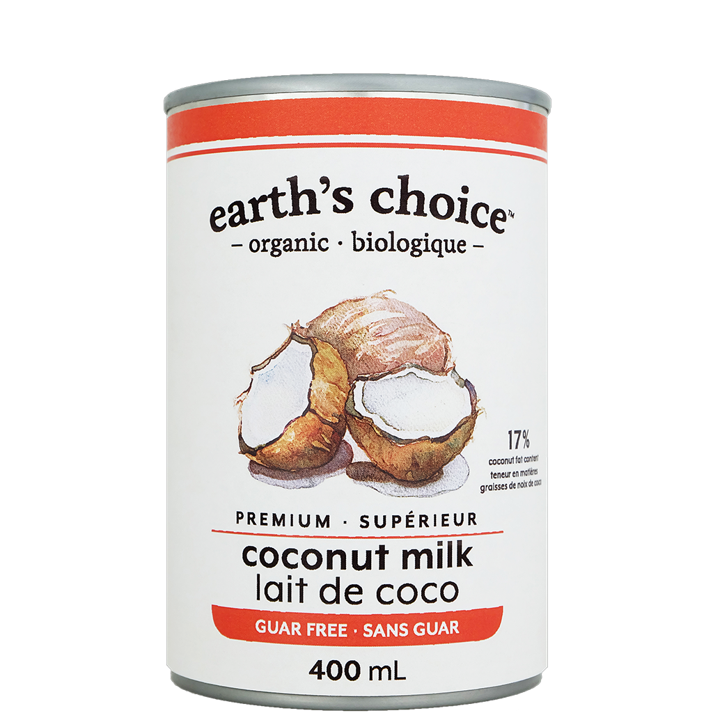 Organic Coconut Milk Without Guar Gum 400 ml Earth's Choice