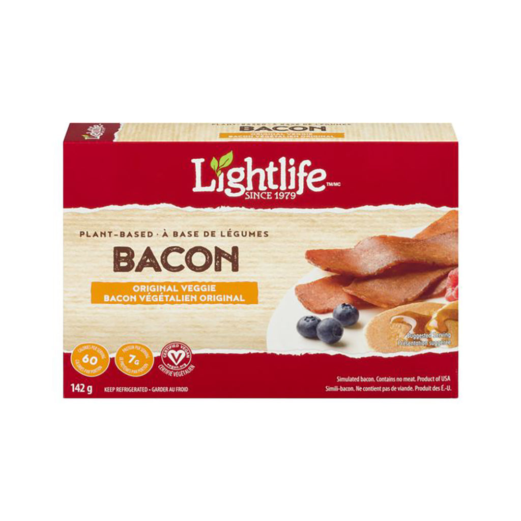 Bacon Végétalien Original à Base de Plantes LightLife 142 g