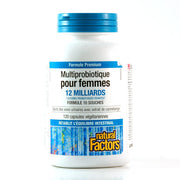 Multiprobiotique pour Femmes Formule Premium 120 capsules de Natural Factors