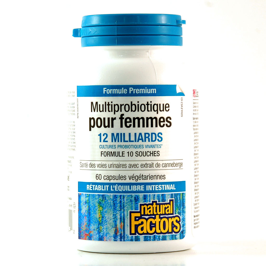 Multiprobiotique pour Femmes Formule Premium 60 capsules de Natural Factors