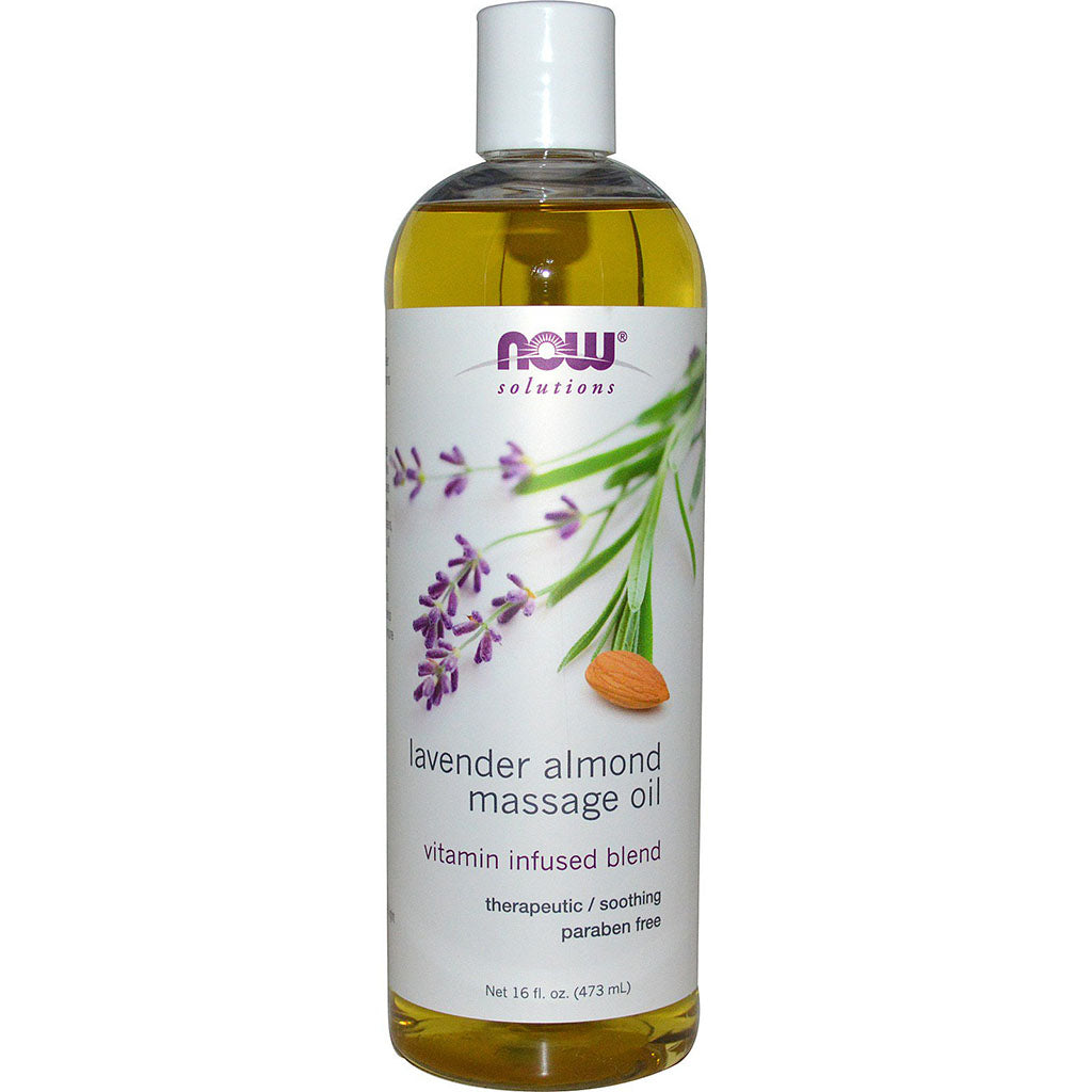 huile de massage lavande now 473 ml