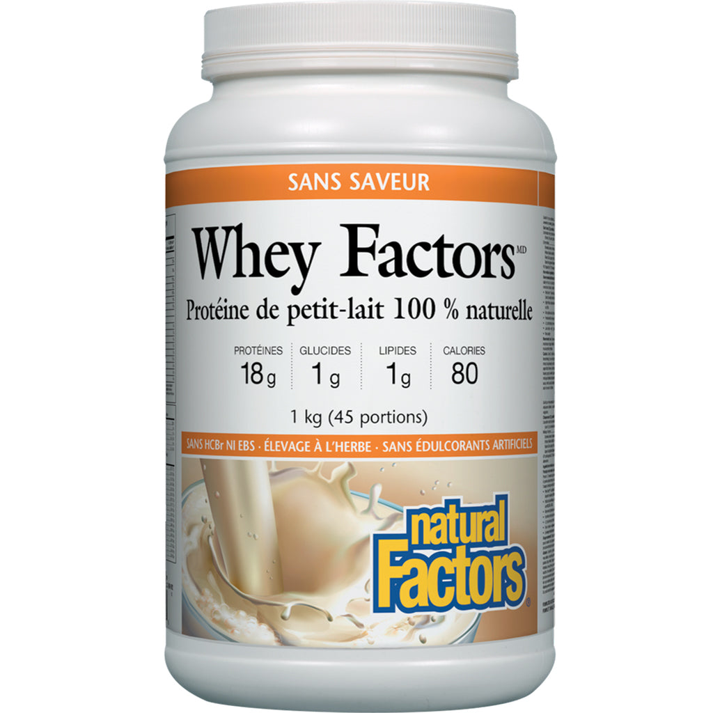whey factors sans saveur natural factors 1 kg