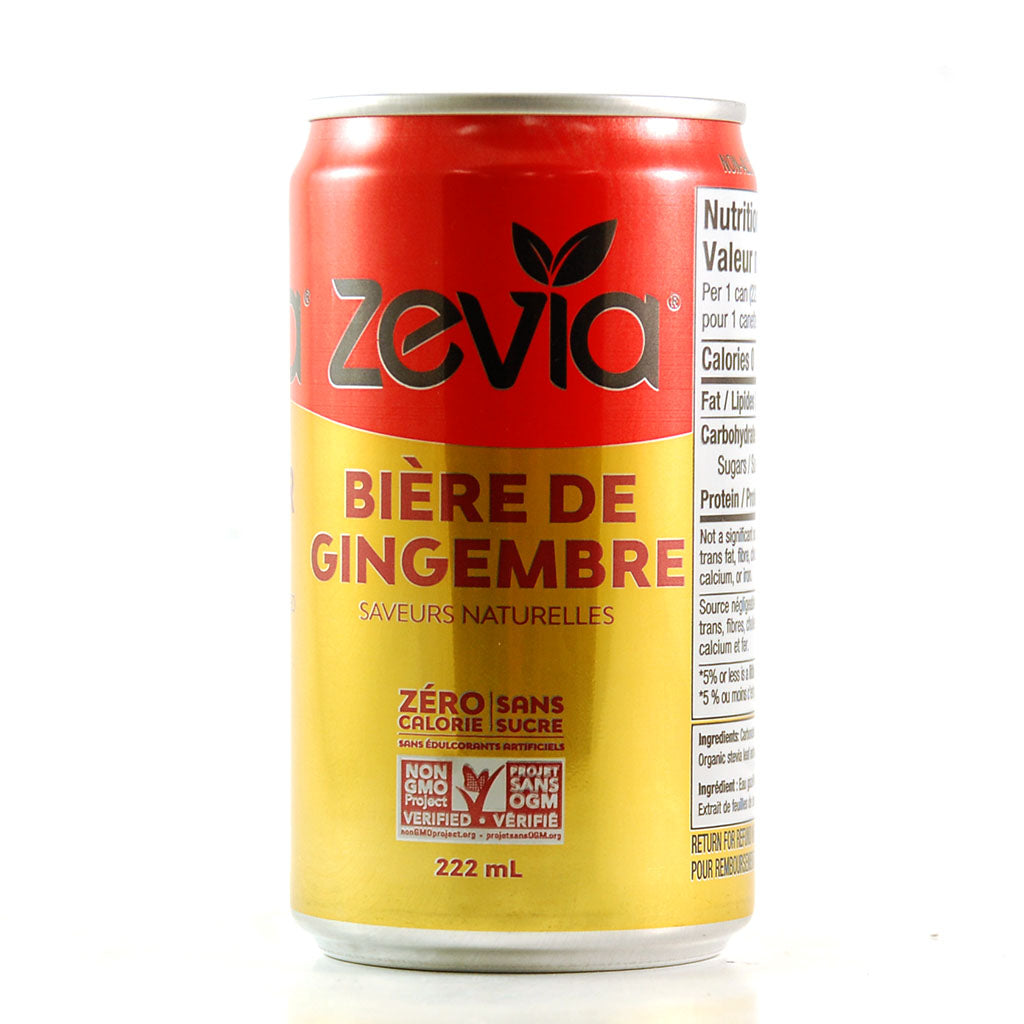 Ginger Beer Zéro Calorie 222 mL de Zevia