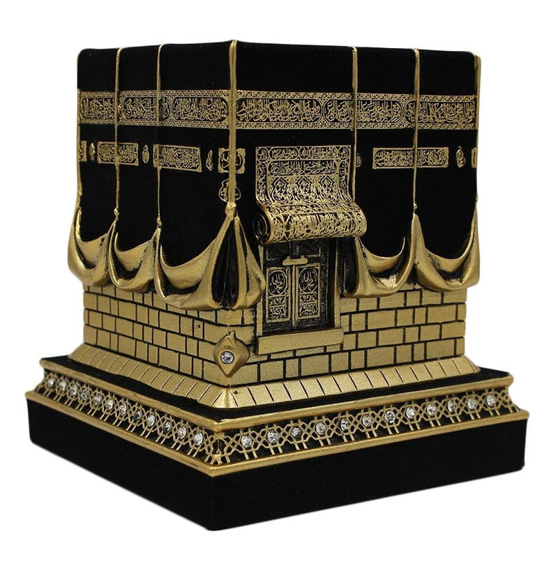 Islamic Table Decor Kaba Replica Gold  Black - east-west-souk