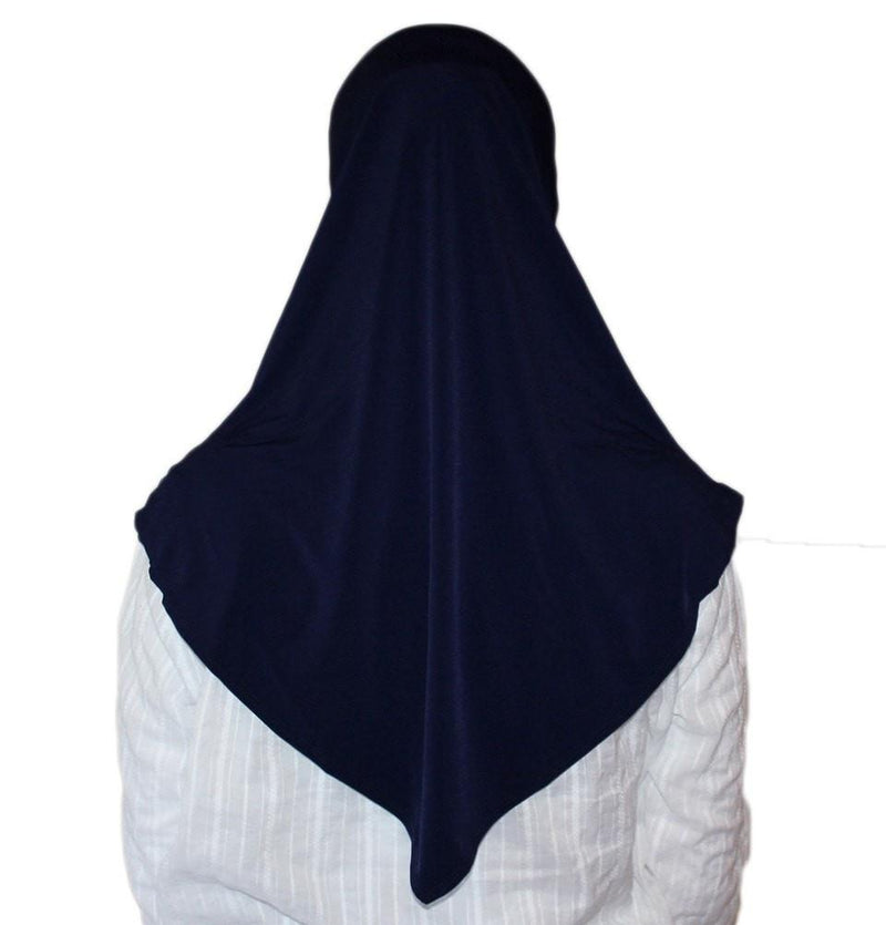 Firdevs Practical Hijab Scarf & Bonnet - Navy Blue - east-west-souk
