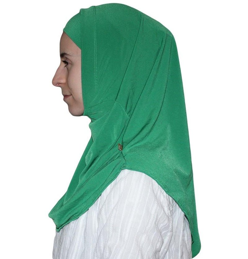 Firdevs Practical Hijab Scarf & Bonnet - Bright Green