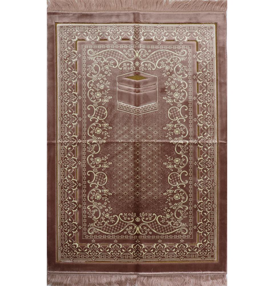 Double Plush Wide Extra Large Prayer Rug - Rose Pink