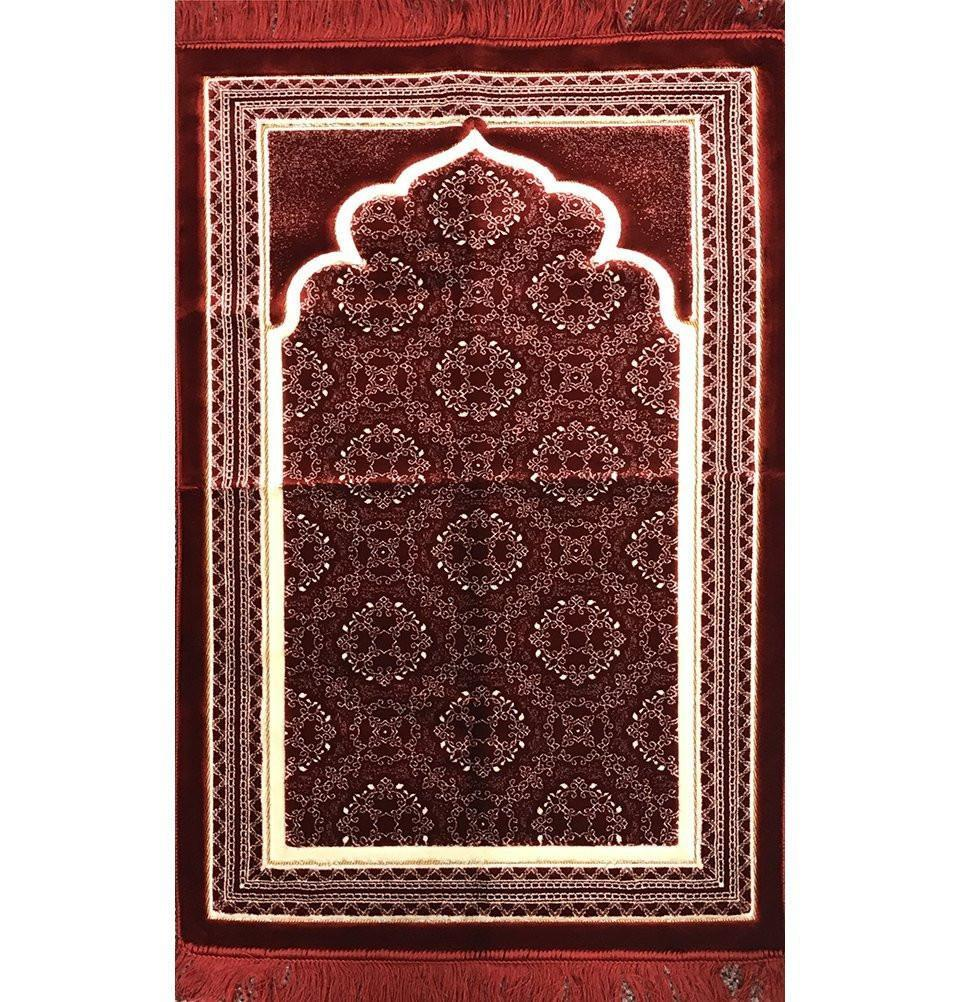 Lux Plush Regal Prayer Rug - Red - east-west-souk