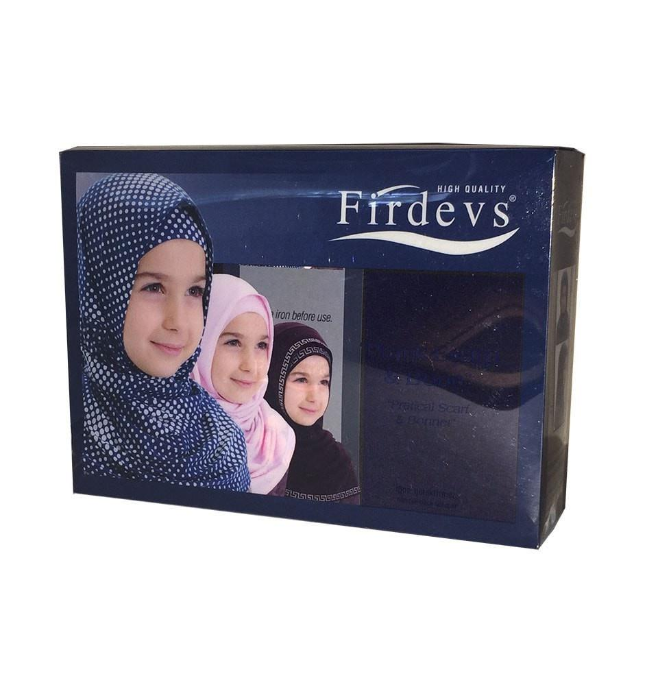 Firdevs Girl's Practical Hijab Scarf  Bonnet - Navy Blue - east-west-souk