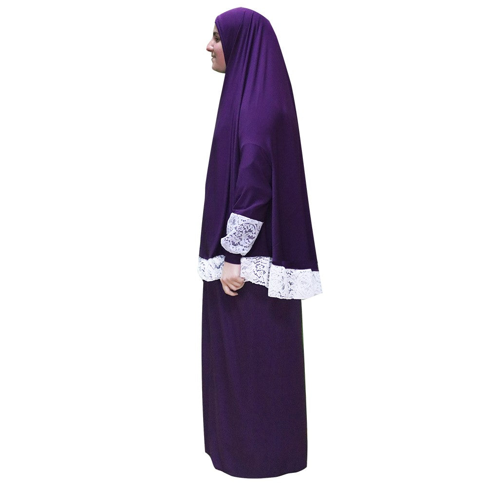 Women's Prayer Dress 2 Pieces (With Sleeves) – Plain Color