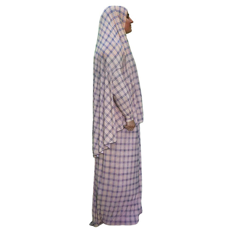 Women's Prayer Dress 2 Pieces (With Sleeves) -  Plaid