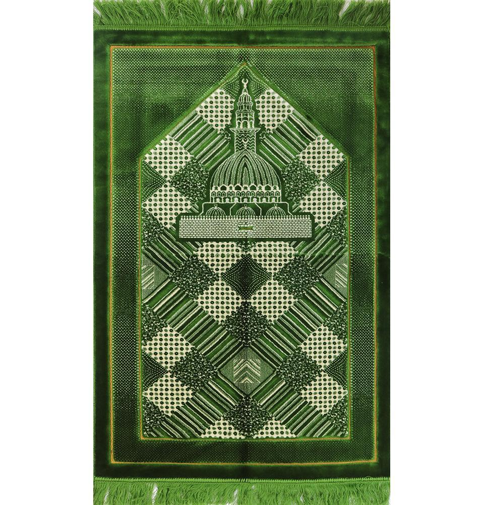 Lux Plush Regal Prayer Rug - Green - east-west-souk