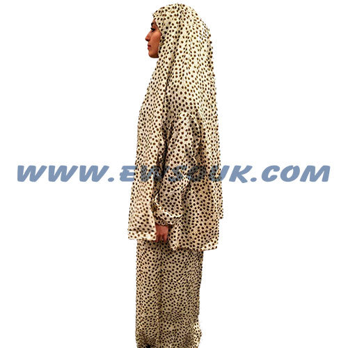 Women's Prayer Dress 2 Pieces (With Sleeves) - Printed Design