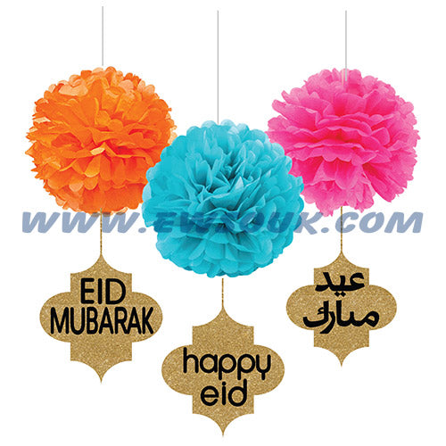 Colorful Eid Pompom Decor Set
