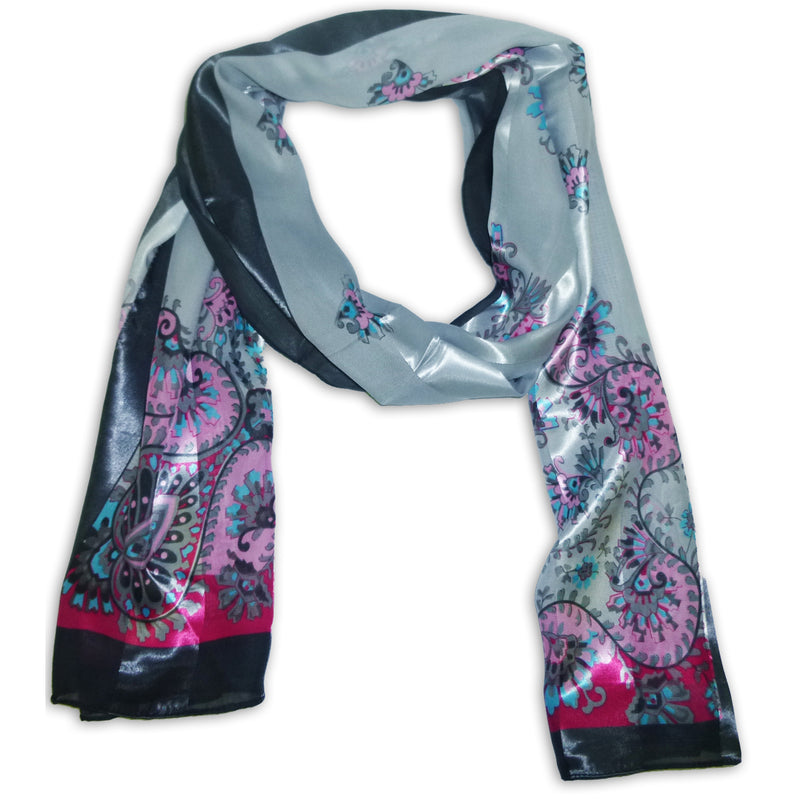 Women's Chiffon With Printed Design Scarf Wrap Shawl
