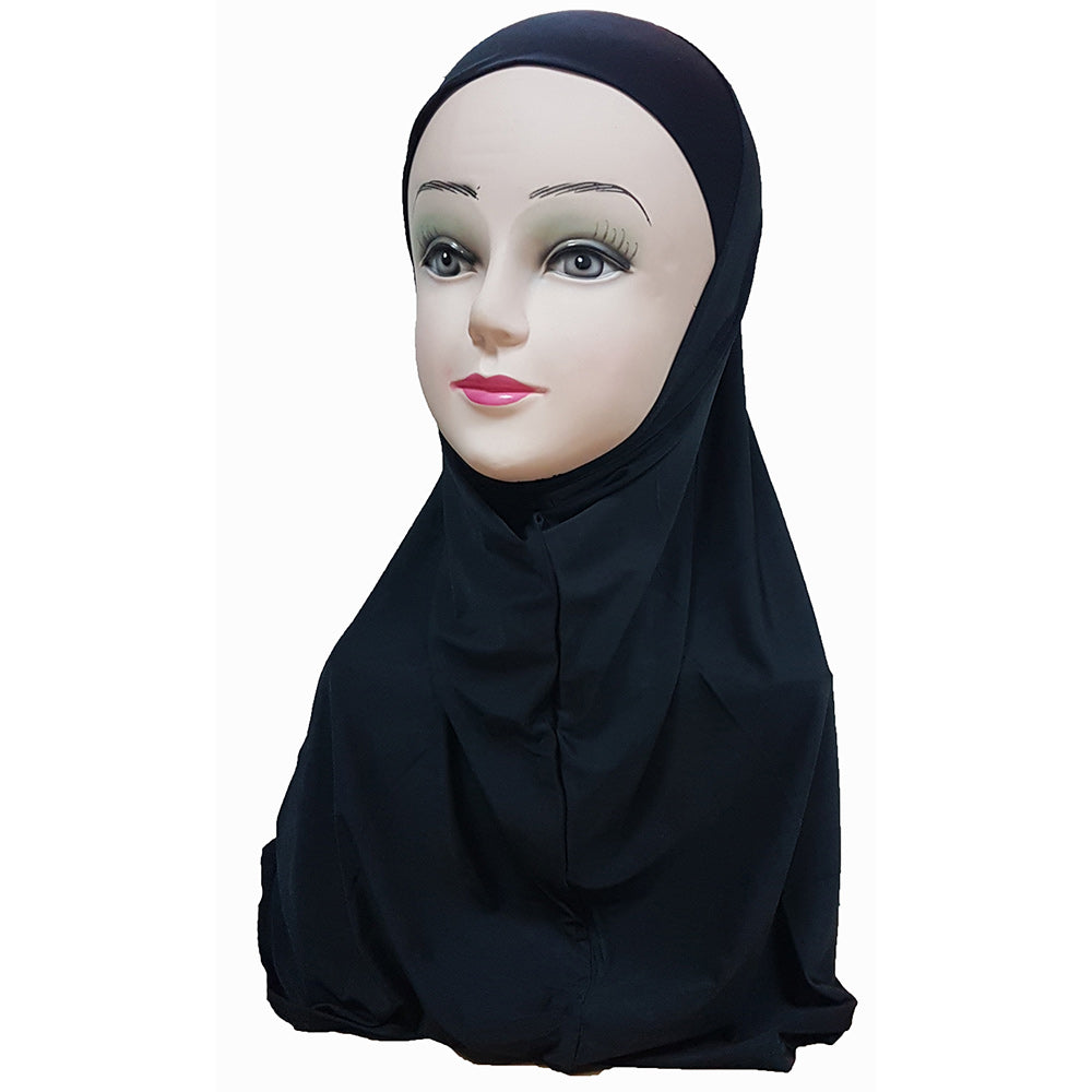 Women's Lycra Amira Hijab One Piece - Plain Color