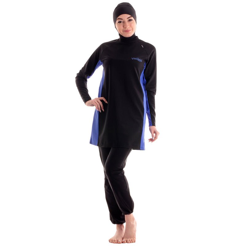 Veilkini Full Cover Swimsuit Reguler  Fit (Black)