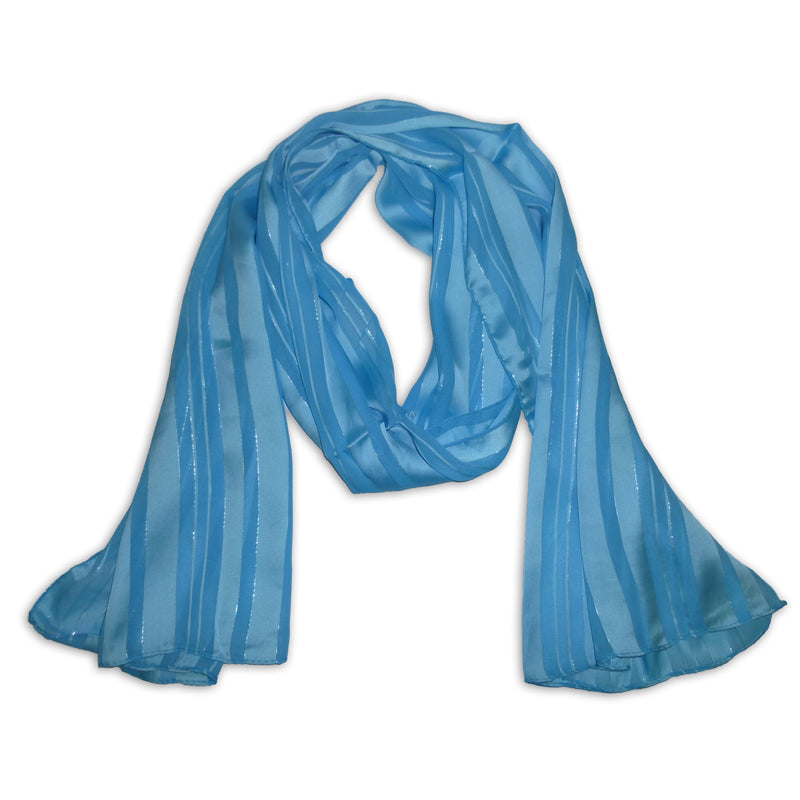 Women's Striped Silky Scarf Wrap Shawl