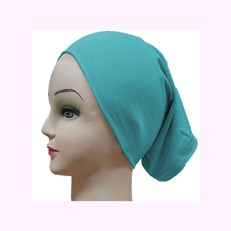 Women's Cotton Knit Tube Under Scarf - Plain Color