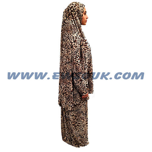Women's Prayer Dress 2 Pieces (With Sleeves) - Tiger