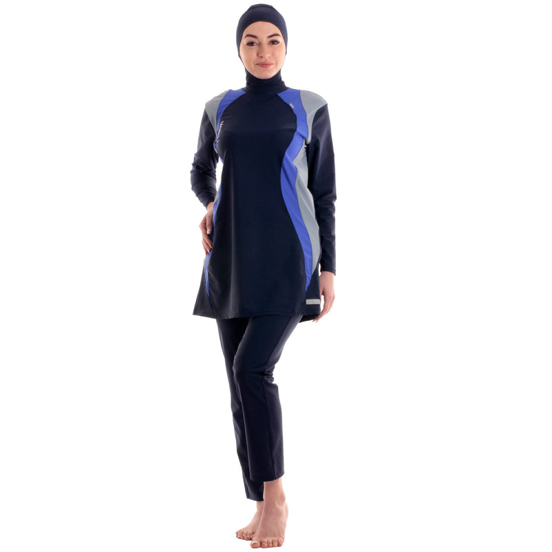 Veilkini Sporty Look Full Cover Swimsuit (Navy)