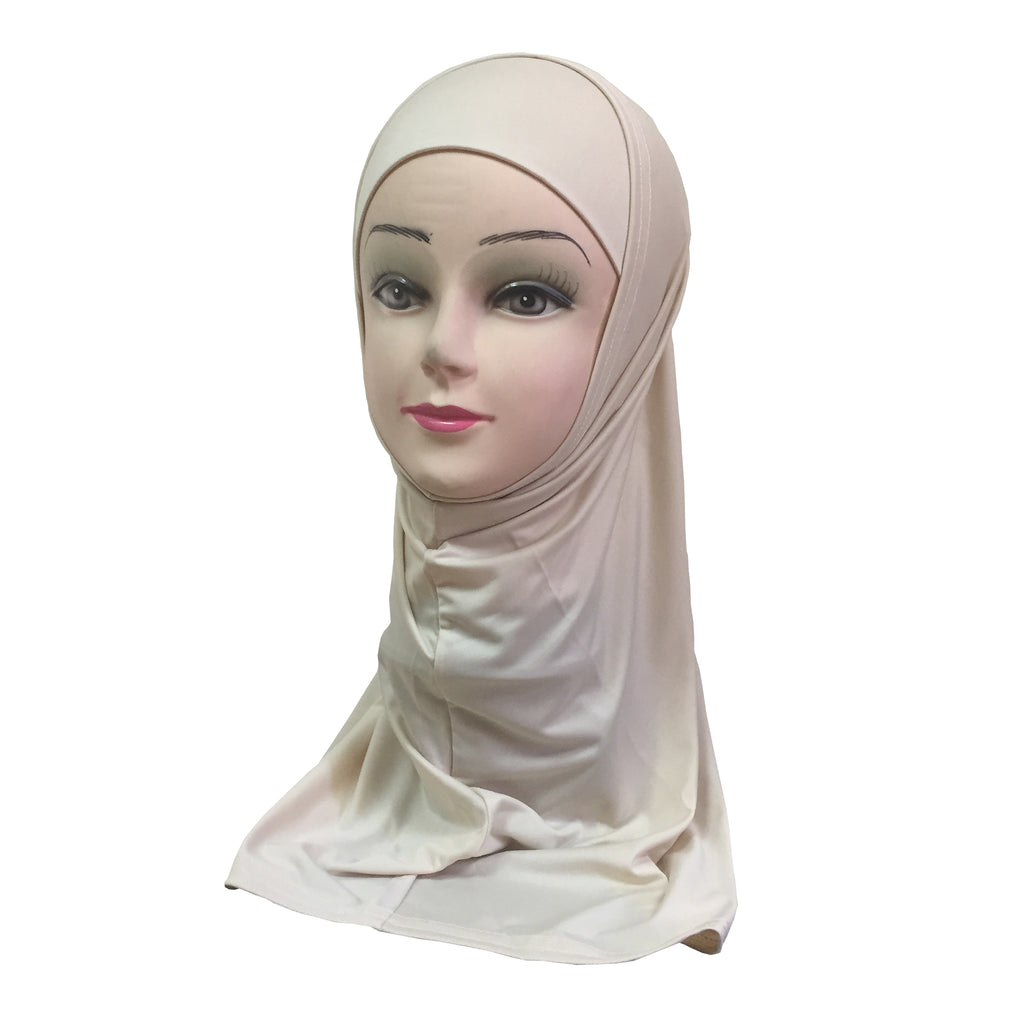 Women's Lycra Amira Hijab Two Piece - Plain Color