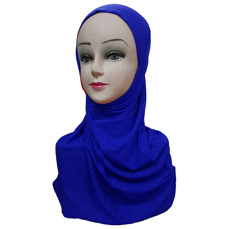 Women's Cotton Amira Hijab One Piece - Plain Color
