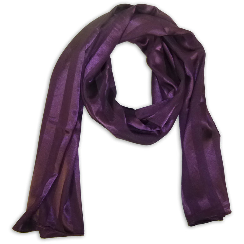 Women's Striped Satin Scarf Wrap Shawl